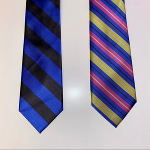 Lot of 2 Blue Rooster Ties